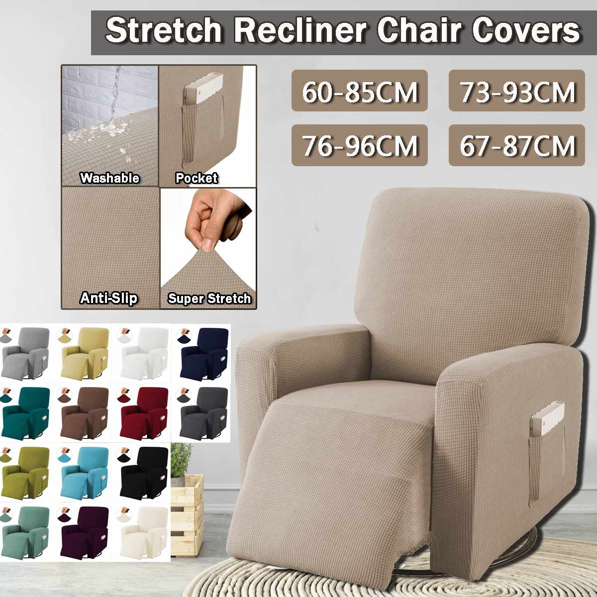 Stretch Sofa Cover Elastic Couch Cover Sofa Covers For Living Room Pets Slipcover Sofa Recliner Chair Covers