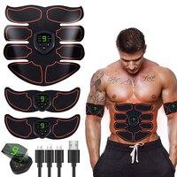 Стимулятор мышц брюшной полости ABS EMS тренажер для тонизирования тела фитнес USB Перезаряжаемый тонизатор мускулов тренажер для тренировки м...