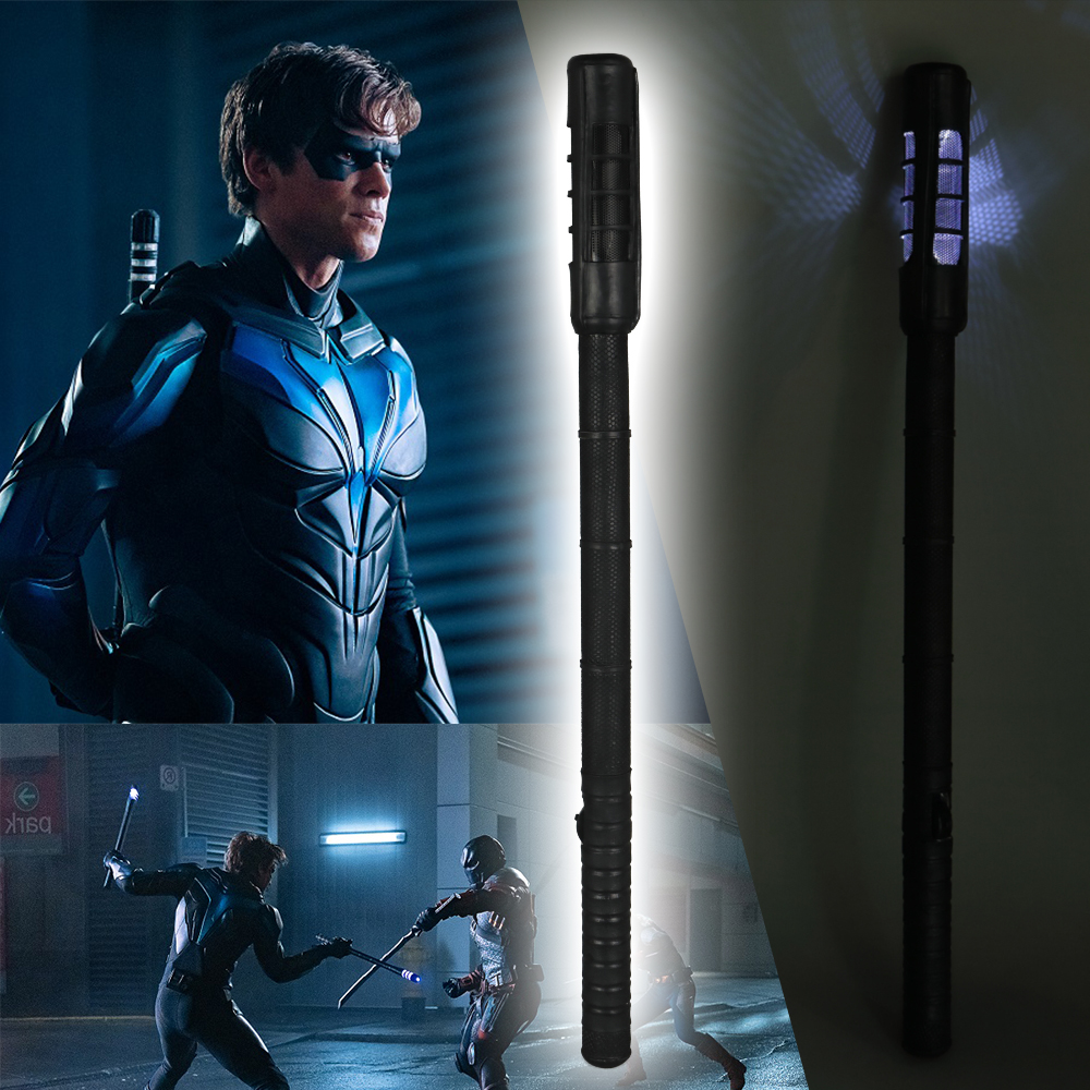 Titans Dick Grayson Robin LED Nightwings Escrima Sticks Cosplay Superhero Props