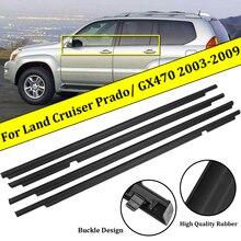 4 шт., уплотнительные ленты для Toyota Land Cruiser 120 Prado 2003-2009, Lexus GX470 2003-2009