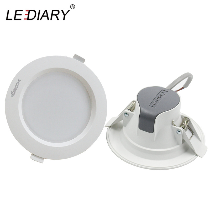 spot recessed led cob 5 watt - LEDIARY Recessed Ceiling LED Downlights 5W 9W 24W 220V SMD Spot Lamp 3000K/4000K/6000K 75mm 90mm 155mm Cut Hole Home Lighting