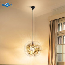 Small Glass Chandelier Nordic Modern Simple Bedroom creative Personality Living room bar network red single head Restaurant