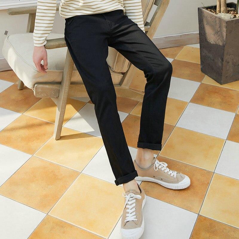 Metersbonwe прямые джинсы мужские Весна Осень Новые повседневные Молодежные трендовые тонкие джинсы мужские s брюки мужские брюки - Цвет: Black