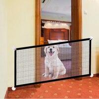 Pet Barrier Zäune Tragbare Klapp Hund Safe Guard für Indoor und Outdoor Mesh Treppen Fenster Tür Sicherheit Zaun Haustiere Accssories