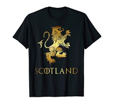 Brand Men Shirt Funny Scotland Lion Rampant T Shirt Scottish Kilts Gift Tee(China)