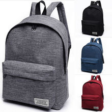 NoEnName-Null 1PC Stylish Women Men Shoulder Canvas Portable Large Backpack Rucksack Colleg