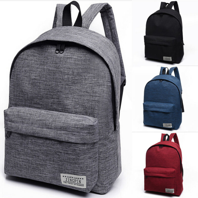 NoEnName-Null 1PC Stylish Women Men Shoulder Canvas Portable Large <font><b>Backpack</b></font> Rucksack College School Bag Travel Hiking Bag image