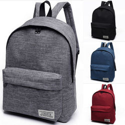NoEnName-Null 1PC Stylish Women Men Shoulder Canvas Portable Large Backpack Rucksack College School Bag Travel Hiking Bag