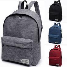 NoEnName-Null 1PC Stylish Women Men Shoulder Canvas Portable Large Backpack Ruck