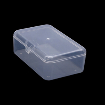 1PCS Clear Lidded Small Plastic Box For Trifles Parts Tools Storage Box Jewelry Display Box Screw Case Beads Container