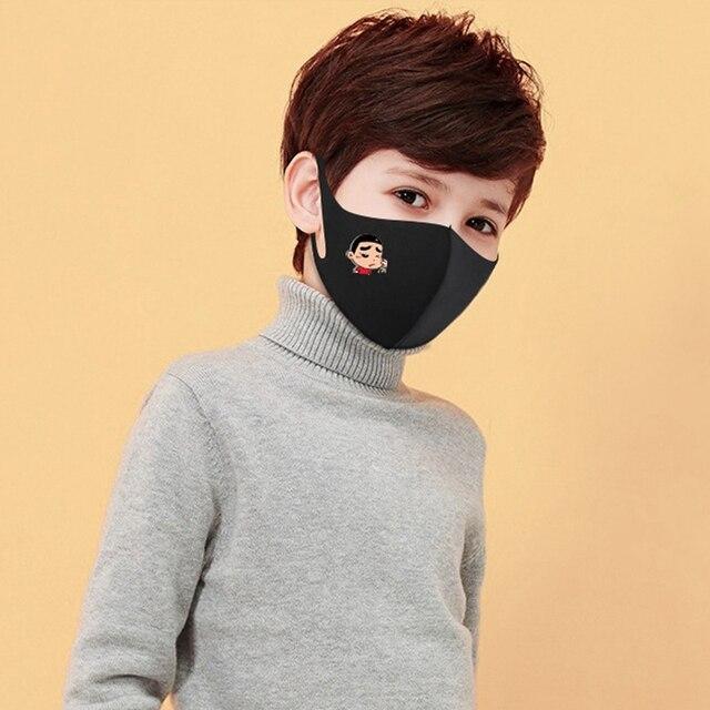 Black Dust Mask for Children to Prevent Flu Vira Influenza Three Layers Child Anti Haze Dust Muffle Respirator 4