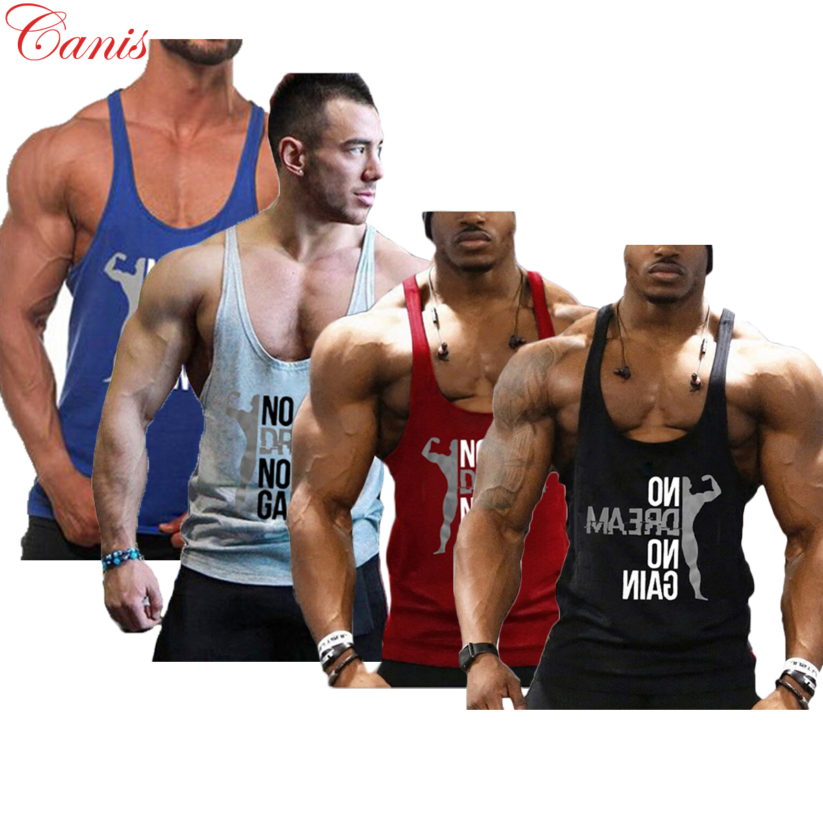 Men Stringer Muscle Bodybuilding Shirt Tank Top Gym Singlet Fitness Sports Vests