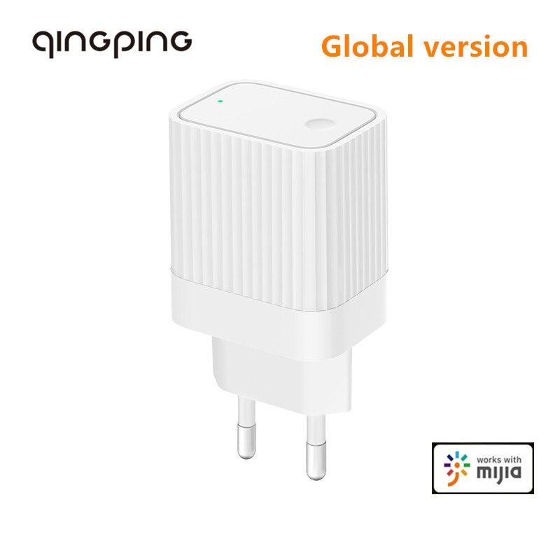Qingping bluetooth wifi gateway compatível com mijia app bluetooth sub-dispositivo de ligação inteligente dispositivo de casa plugue da ue
