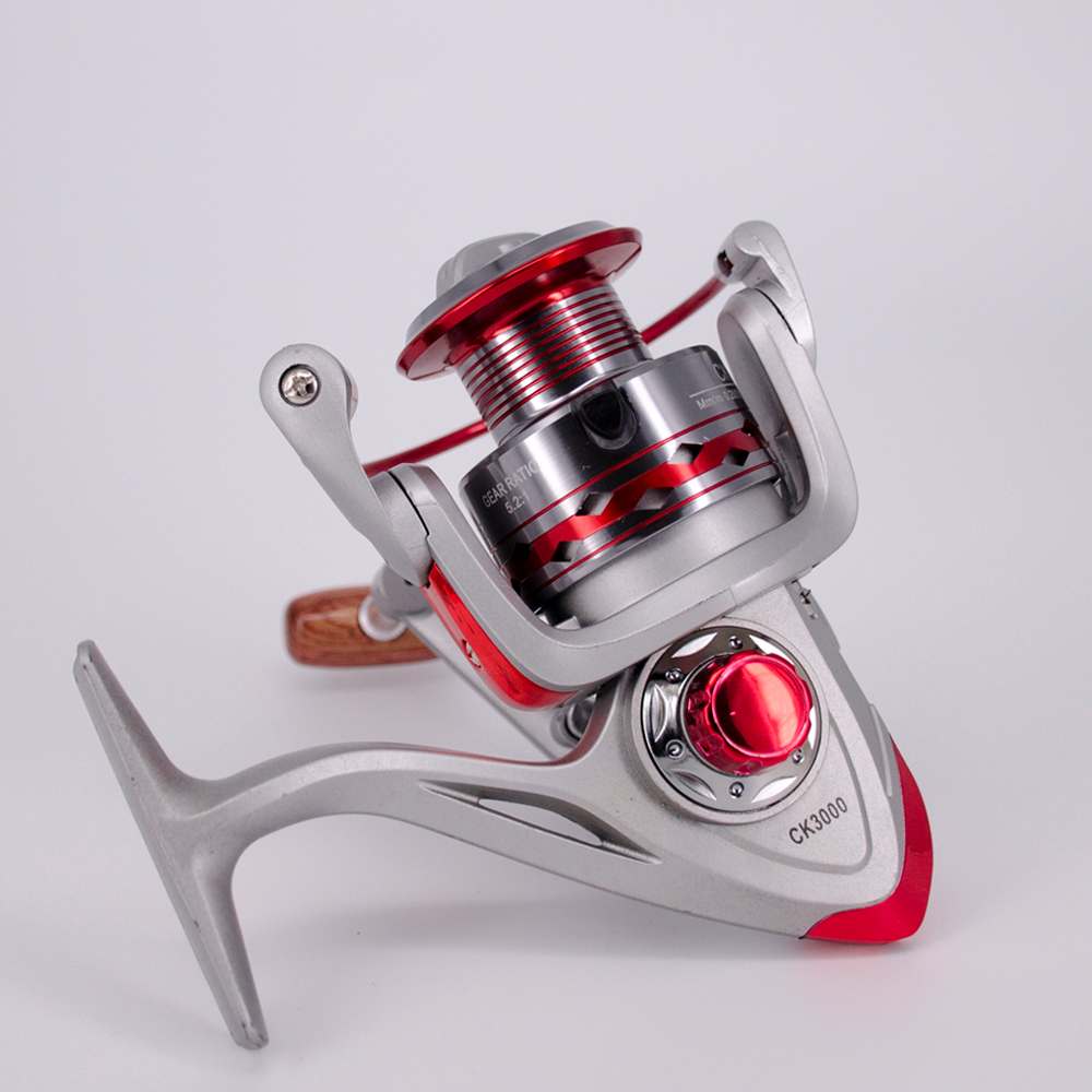 Fishing Spinning Reel 12+1BB 5.2:1Gear Ratio 1000-7000 Series Saltwater Carp Fishing Reels Metal Front Drag Handle Fishing Wheel