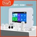 Awaywar Wi-Fi GSM домашняя охранная смарт-сигнализация комплект Tuya 4,3 дюймов сенсорный экран приложение дистанционное управление RFID рычаг для демо...