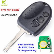 Keyecu交換ヘッドキーfob 3ボタン304用シボレーカプリスルミナ1998-2006ビュイック/ホールデンp/n: 92143287