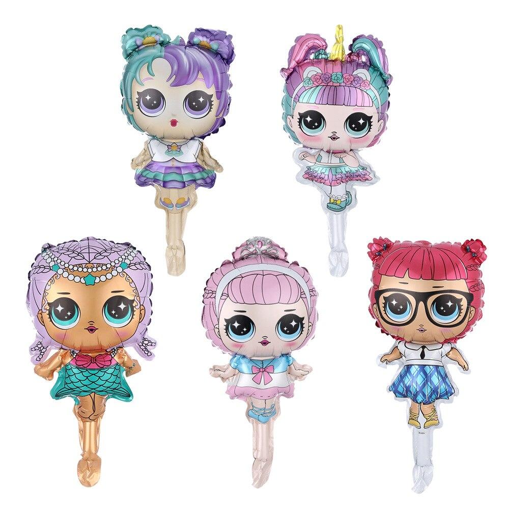 1 pc lol surpresa bonecas crianças meninas festa de aniversário decoração fundo balão de ação brinquedos filme de alumínio presentes para crianças