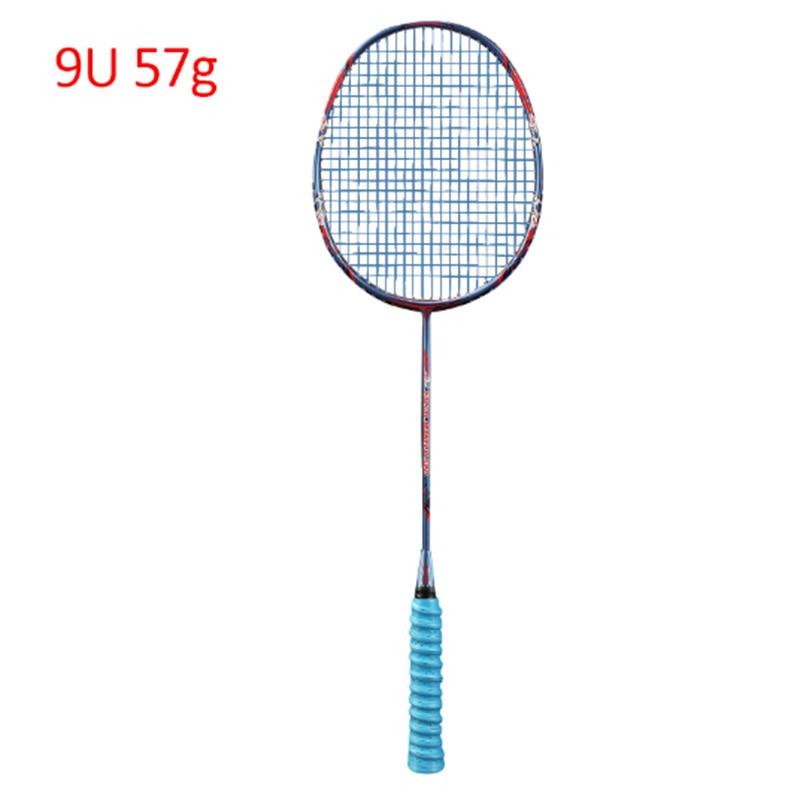 9U Carbon Professional Badminton Racket Ultralight 57G Speed Force Rqueta Padel 30-32 LBS Free Strings Original Bag