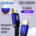 Unnlink HDMI Кабель 1 8 м UHD-2 8 K/4 K @ 60Hz 2K @ 144Hz HDMI 2 1 HDR 48 Гбит/с HDCP2.2 для разветвителя переключатель PS4 ТВ xbox проектор компьютер