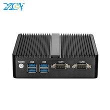 XCY Mini PC Intel Core i3 4005U i5 4200U Dual Gigabit Ethernet Fanless Industrial Computer 4*USB 2*RS232 HDMI VGA WiFi