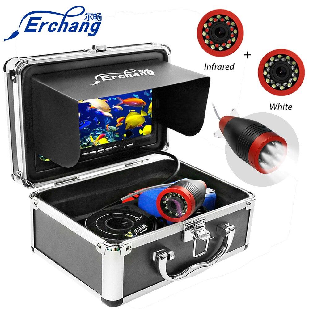 Erchang 15M 1000TVL Fish Finder Onderwater Vissen Camera 7 'Monitor Infrarood Lamp Camera Voor Vissen-in Viszoekers van sport & Entertainment op title=