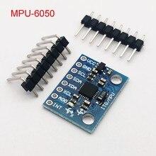 Iic i2c GY-521 MPU-6050 mpu6050 3 eixos giroscópio analógico sensores + 3 eixos módulo acelerômetro para uno com pinos 3-5v dc