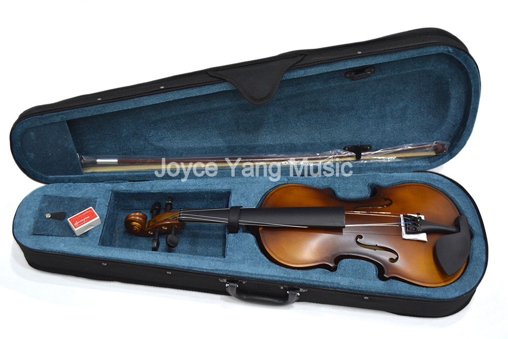 Violin 4/4 Full Size Matte Wood Fiddle With Case Rosin Bow For Kids Students Beginner image