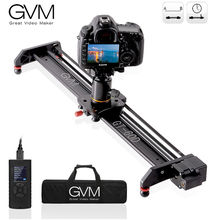 GVM Professional Video Motorized Camera Slider Aluminum Alloy Rail Time-lapse Wedding Studio Film Photography 23inch Portable
