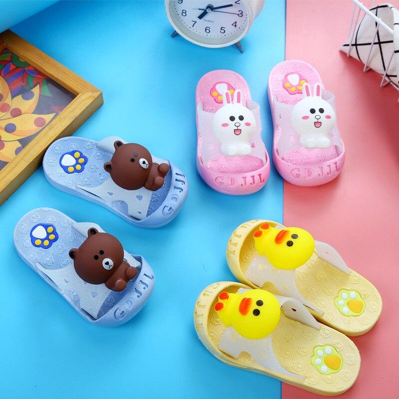 New Fashion Kid Slippers Garden Shoes Children Cartoon Sandal Baby Spring Summer Slippers Boys Girl Toddler Slippets