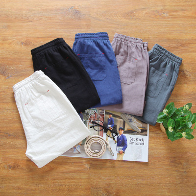 Fashion Men Short Pants Cotton Shorts Calf-Length Fitness Casual Workout Sporting Short Pants Summer Sportswear Short