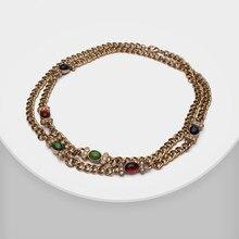 XL11459-i17 Amorita boutique Vintage matte gold überzogene halskette