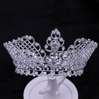 Hot European Pavement Of Vintage Crystal Accessors From Tiara Marriage Crown Bride Tiara From Strass Tiaras Pageant Crown
