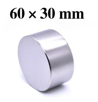 N52 1pc Dia 60 #215 30 okrągły magnes silny magnes ziem rzadkich neodymowy 60mm x 30mm hurtownia 60mm * 30mm60*30 tanie i dobre opinie CN (pochodzenie) NONE permanentny Przemysłowy magnes Magnes neodymowy Piłka