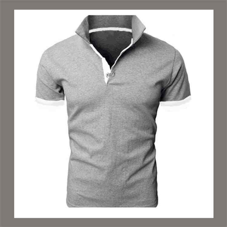 男性ポロシャツファッションカジュアルポロオム 2019 新夏ポロシャツ男性カジュアルスリムフィットパッチワーク半袖プラスサイズ m-3xl