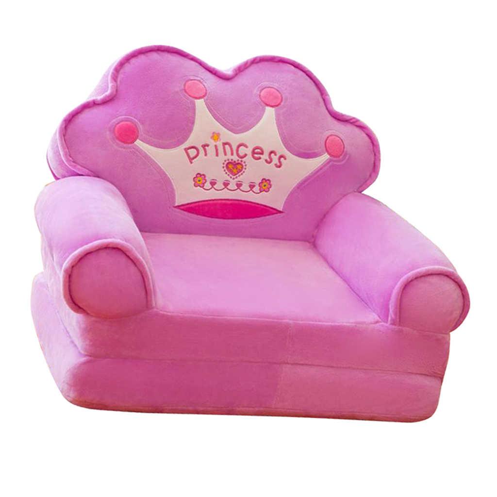 มงกุฎขนาดเล็กสำหรับที่นั่งเด็กการ์ตูนพับโซฟาเด็ก Multifunctional โซฟาของขวัญวันเกิดสำหรับชายและหญิง