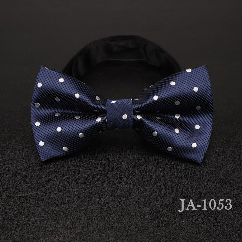 Дизайнерский галстук-бабочка, высокое качество, мода, мужская рубашка, аксессуары, темно-синий, в горошек, галстук-бабочка для свадьбы, для мужчин,, вечерние, деловые, официальные - Цвет: 1053