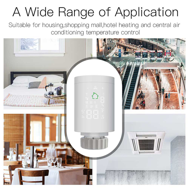 Tuya ZigBee3.0 actionneur de radiateur intelligent Thermostat chauffage régulateur de température commande vocale fonctionne avec Alexa Google Home