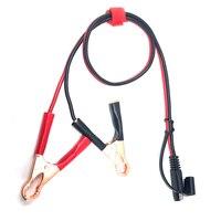 Bateria jacaré clipes para 2 pinos sae tomada de desconexão rápida 60cm 16awg sae cabo Acessórios eletrônicos p/ moto    -