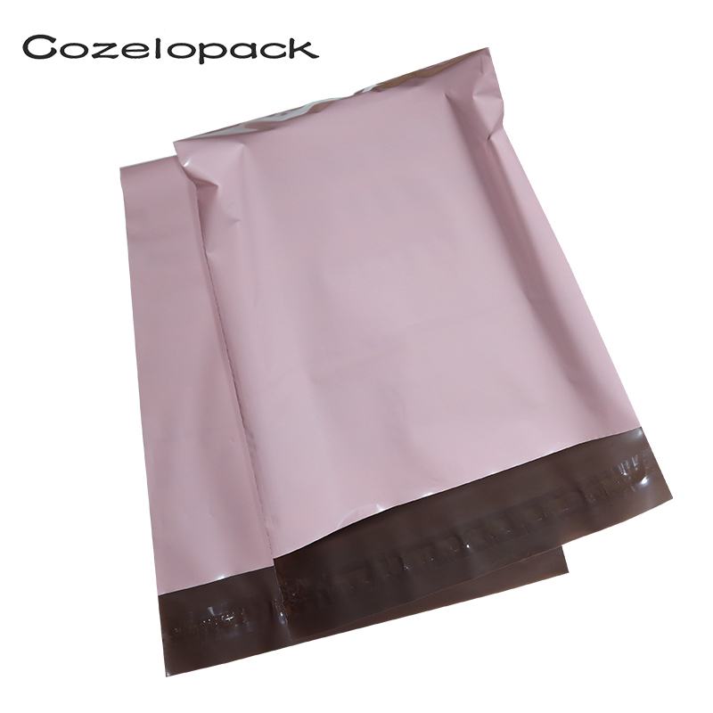 100pcs Light Pink Poly Mailer Self Adhesive Post Mailing Package Mailer Glue Seal Postal Bag Gift Bags Courier Storage Bags