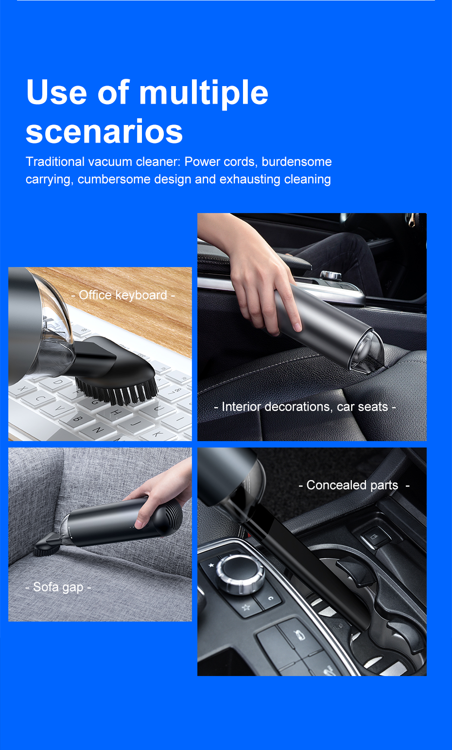 The best car cleaning solution - cordless vacuum cleaner