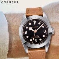 Corgeut nova marca de luxo superior dos homens relógios mecânicos automático à prova dwaterproof água relógio masculino relógio masculino luminoso relogio masculino