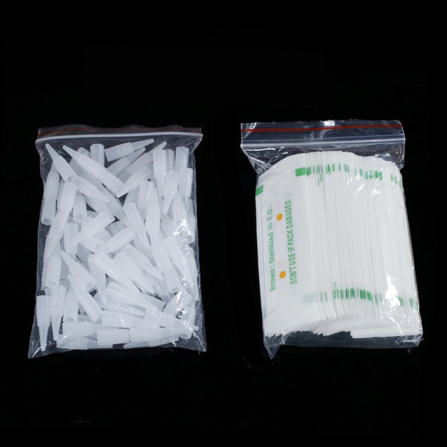 100PCS 1R 3R 5R 5F 7F PMU Needles + Needle Tips Disposable Sterilized Professional Tattoo needles for Permanent Makeup Eyebrow 5