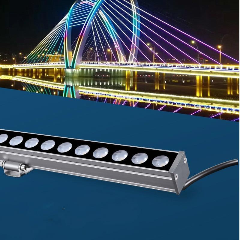 18W 24W 36W LEVOU Paisagem luz Da Arruela Da Parede RGB controle DMX512 DC24V luzes de parede ao ar livre projector linear arruela da parede