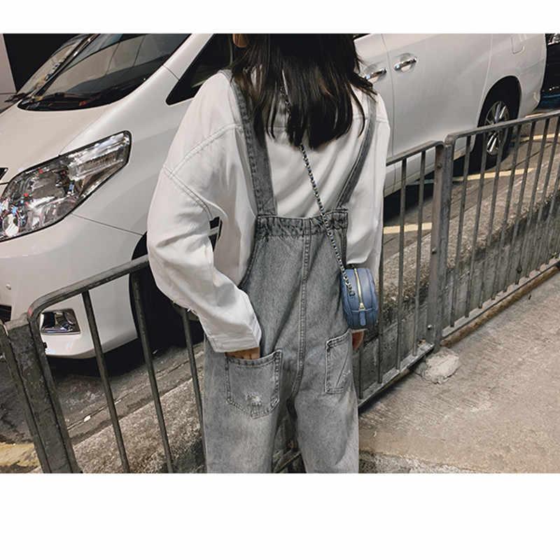 JUJULAND новые весенние женские комбинезоны крутой джинсовый комбинезон рваные повседневные джинсы боди с вырезами без рукавов комбинезоны 009