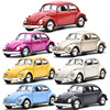 Beetle Car Model Toy 1/36 With Pull Back For Kids Christmas Gifts 1967 Alloy Diecast Classic Toy Collection