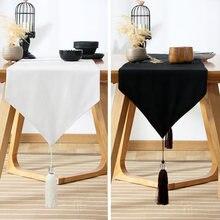 Простой современный декоративный хлопковый стол с кисточками