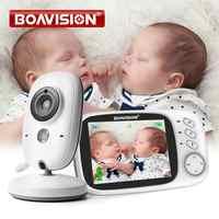 Vb603 monitor de vídeo do bebê 2.4g sem fio com 3.2 polegadas lcd 2 way áudio conversa visão noturna vigilância câmera segurança babá