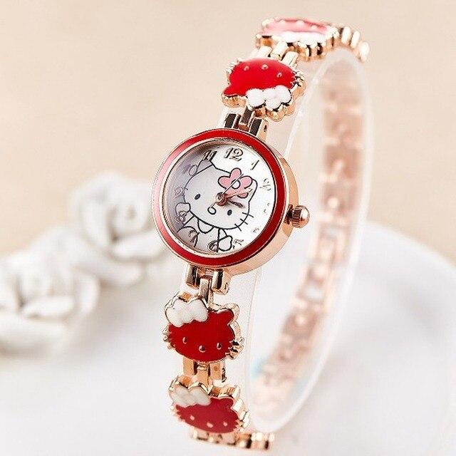 2019 nova reloj crianças relógios para meninas dos desenhos animados adorável pulseira estudante menina relógio de quartzo presente aniversário alta qualidade 4