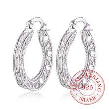 Boucles d'oreilles en argent Sterling 100% 925 pour femmes, bijoux Vintage coréens ajourés en forme de cœur, idéal pour cadeau de mariage, 2020, 2020
