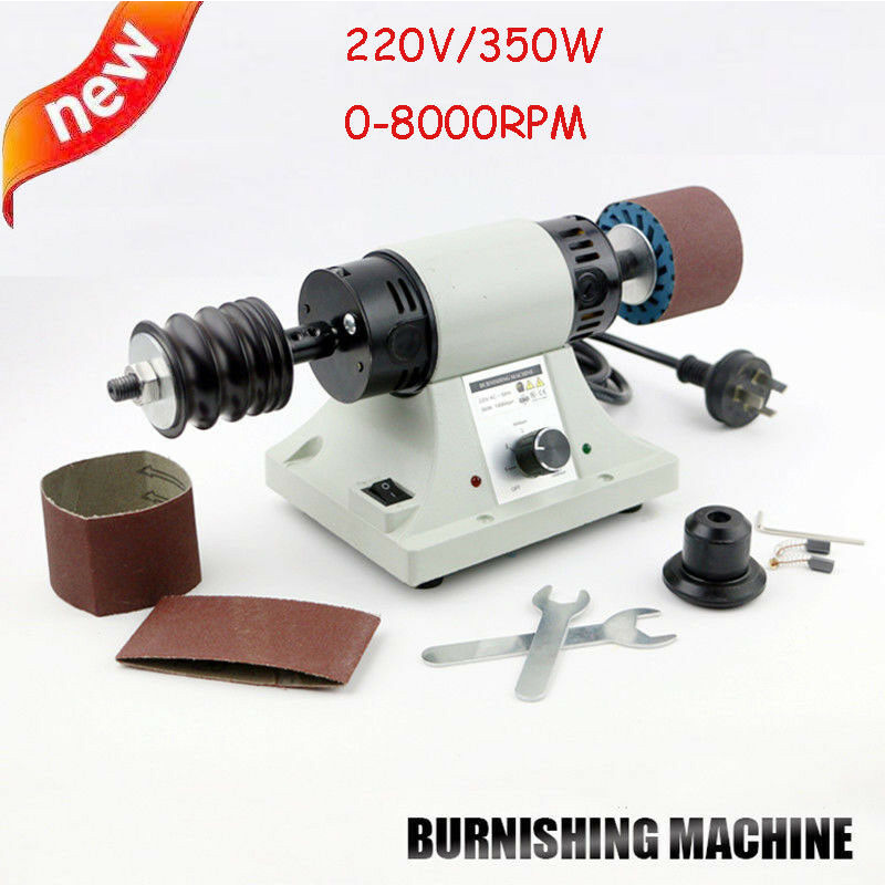 220v 8000RPM Leather Polishing Burnishing Machine Leather Edge Grinding Kit